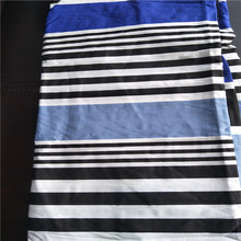 White Blue Printed Cotton Stripe Fabric for Bedding set