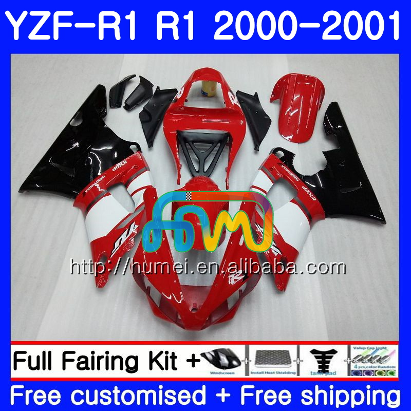 Body For YAMAHA YZF R 1 YZF 1000 YZF-<strong>R1</strong> 00-01 Bodywork red black 98HM2 YZF1000 YZF-1000 YZF <strong>R1</strong> 00 01 YZFR1 2000 <strong>2001</strong> <strong>Fairing</strong>