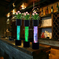 Modern decoration cheap led water bubble light tubes for wedding table backdrop ideas