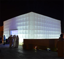 Outdoor event giant LED light inflatable cube tent for sale K5078