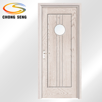 White Glass Shaker Entry Doors