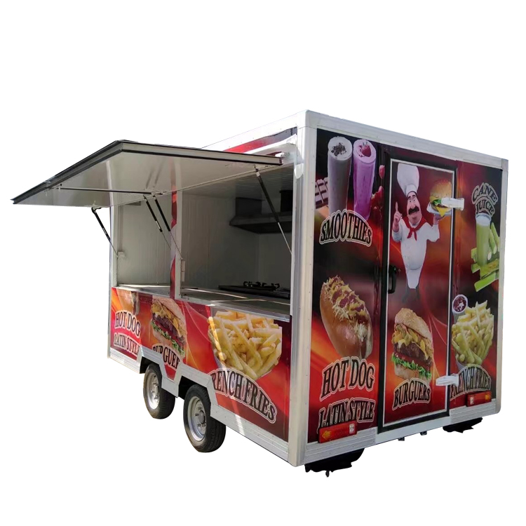 Factory direct food van trailer