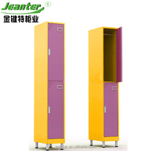 Disassemble Cheap Steel Wardrobe 2 door Metal wardrobe clothes closet