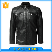 5512 Wholesale Black Korean Fashion Slim Fit Leather Jackets For Men With Multi Pocket