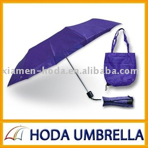 Three fold shopping bag umbrella