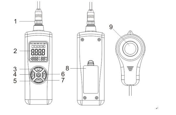 new 200 000 lux digital meter light luxmeter meters luminometer photometer lux  fc tl
