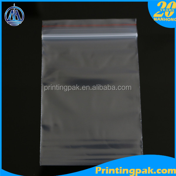 Hot sale Transparent LDPE/ HDPE Plastic Zip Lock Bags/ clear reclosable zipper bag