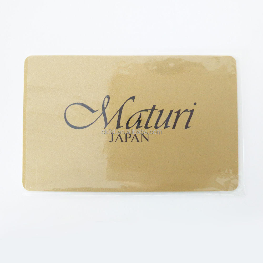 NBCU Audit Factory Custom Gold Warranty Alibaba Gift Plastic <strong>Card</strong>