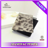 custom stylish high quality snake skin fashion PU wallet case for women