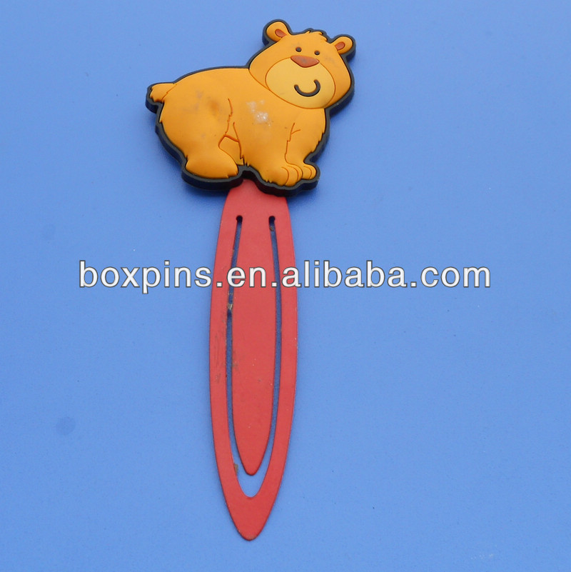 cute bear shaped animal rubber book clip bookmark