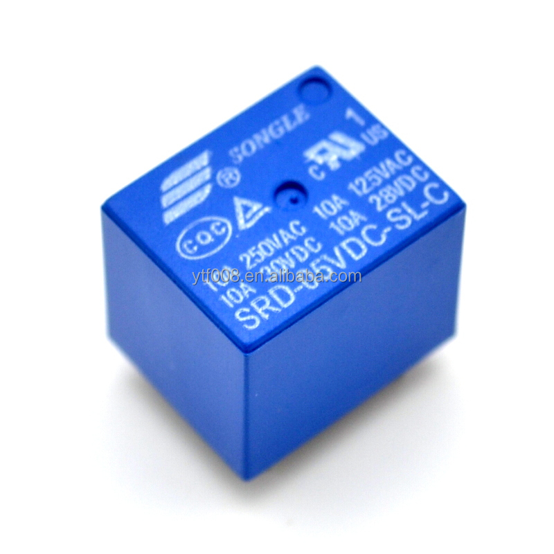 5V DC SONGLE Power Relay T73-5V SRD-5VDC-SL-C SRD-05VDC-SL-C PCB Type