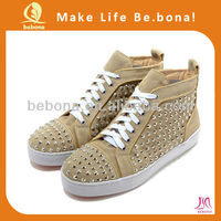 Wholesale OEM Men Cool fashion Canvas spikes shoes