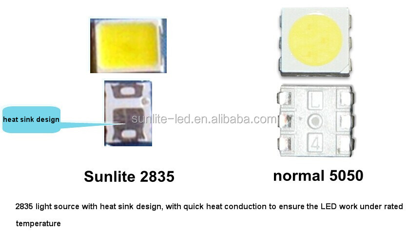high bright 2835 led module/ 1w high power led cabinet light/ 2835 led pcb