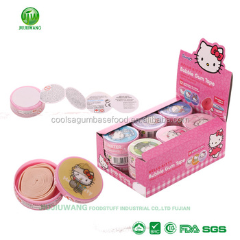 JJW/OEM yummy bubble roll gum with lovely 2D/3D sticker