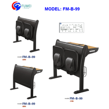 School furniture type college student desk chair for amphitheater classroom FM-B-99