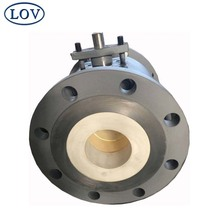 Three Pieces Split Body A216 WCB Double Flange Trunnion Ceramic Lined Ball Valve Price