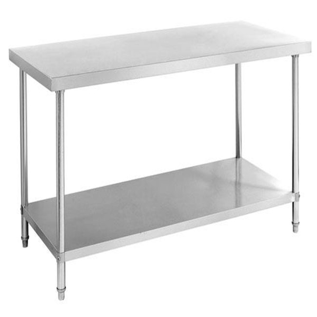 Stainless Steel Work Table Best Quality Knocked-Down Stainless Steel Kitchen Equipment Two Tiers Work Table
