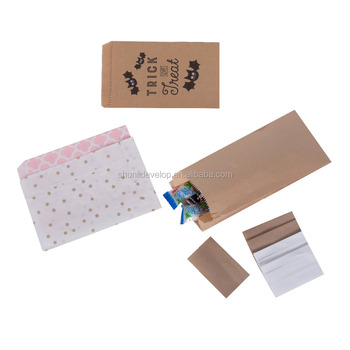 Biodegradable waterproof food kraft paper bag for Christmas wholesale