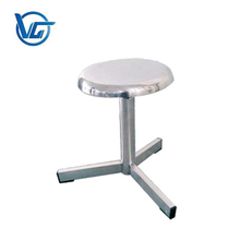 Stainless steel medical round swivel chair
