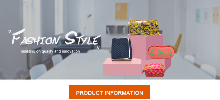 Professional made fashion colorful wholesale custom lady makeup bag travel cosmetic peva bag