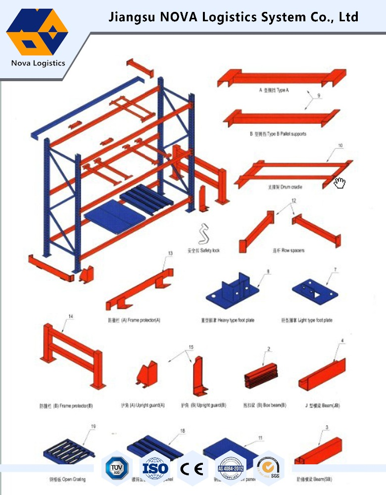 OEM Steel stackable pallet rack