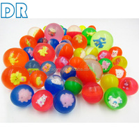 promotion cartoon elasticity pet toy 3.2 rubber ball