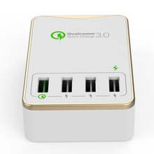 for iphone socket with 4 USB QC3.0,smart 4 port usb charger QC 3.0 pass SAA authenticate for iphone Charger