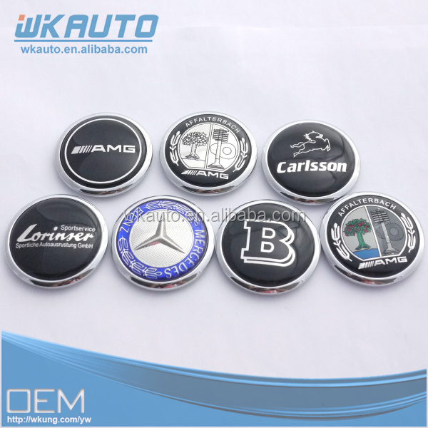 hotsale zinc alloy metal 45mm round C180 C200 S series car logo hood emblems