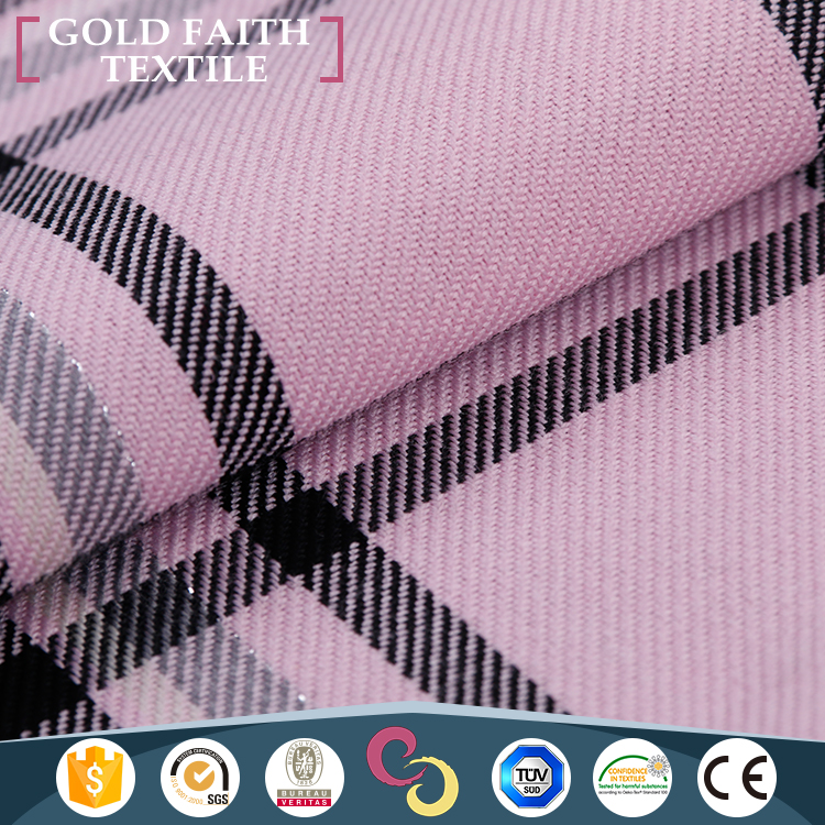 Cheap Price TR 65 35 Rayon Polyester Yarn Dyed Plaid Fabric For Clothing