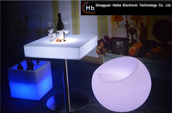 led round dinner table LED Luminous Bar Furniture Nail Bar/unique bar furniture/