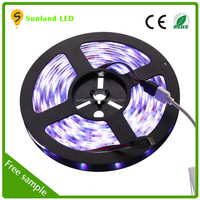 waterproof multicolor battery powered led strip lights for cars 5050smd