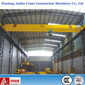 Workshop Indoor single girder bridge crane 5T for sale