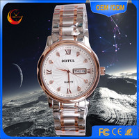 Rose Gold stainless steel Band Slim Custom Luxury Watch