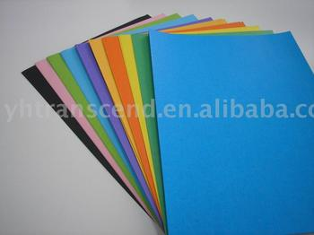 mulit color display paper and tinted board