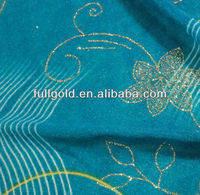 blue fashionable 100% polyester floral printed chiffon fabric