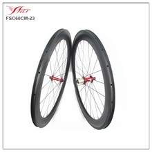 (Red Novatec 291 482 Shima) Carbon clincher wheels 60mm 23mm for road bike