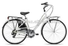 28 inch Alloy frame aluminum rim 6speed derailleur Utility adult ladies city comfort bicycle SY-CB2837