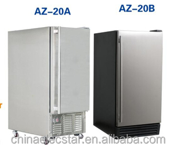 Built-in or Free Standing outdoor Ice Maker with 12 kg Storage Capacity, 25 kg Clear Cube Ice Production, Ice making machine 01