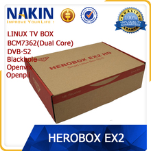 Genuine enigma 2 linux Herobox EX2 HD dvb-s2 tuner dual core digital satellite receiver