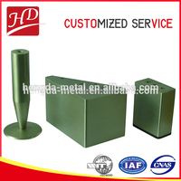 Round base green stainless steel desk,chair,sofa legs accept ODM