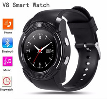 Full view V8 Bluetooth Smart Watch Support TF SIM Card Call Reminder