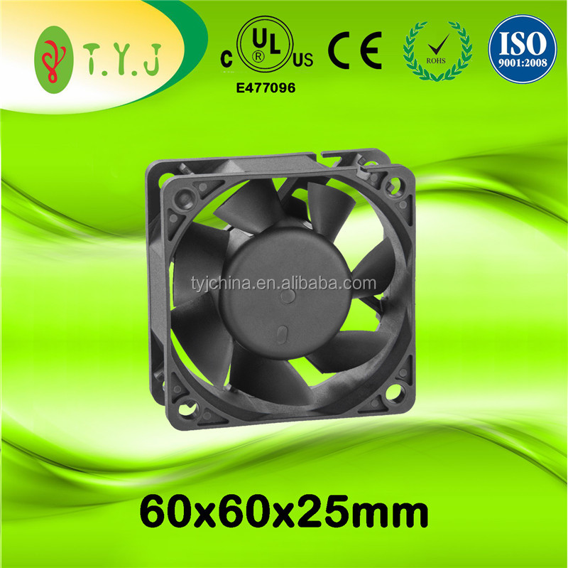 Industrial Axial Fans 60x60x25mm 24v 6500rpm DC Brushless Cooling Fan