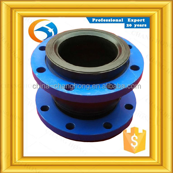 free sample galvanized oil resistant flanged ends rubber expansion joint from china