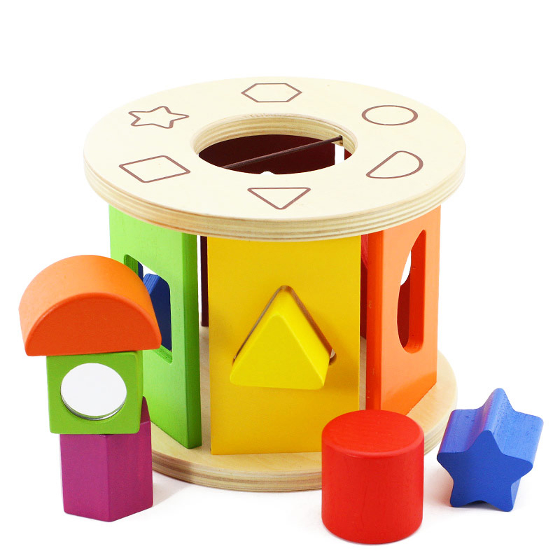 Top hot wooden educational toys shape sorter BH2104