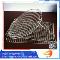stainless steel barbecue bbq grill crimped wire mesh net