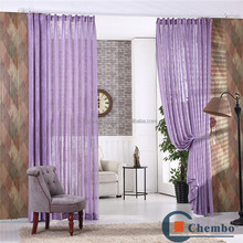 organza embroidered polyester ready made sheer curtains