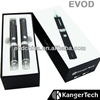 Great promotion original kangertech ego evod double starter kit with 650/900/1100mah at the end of 2013