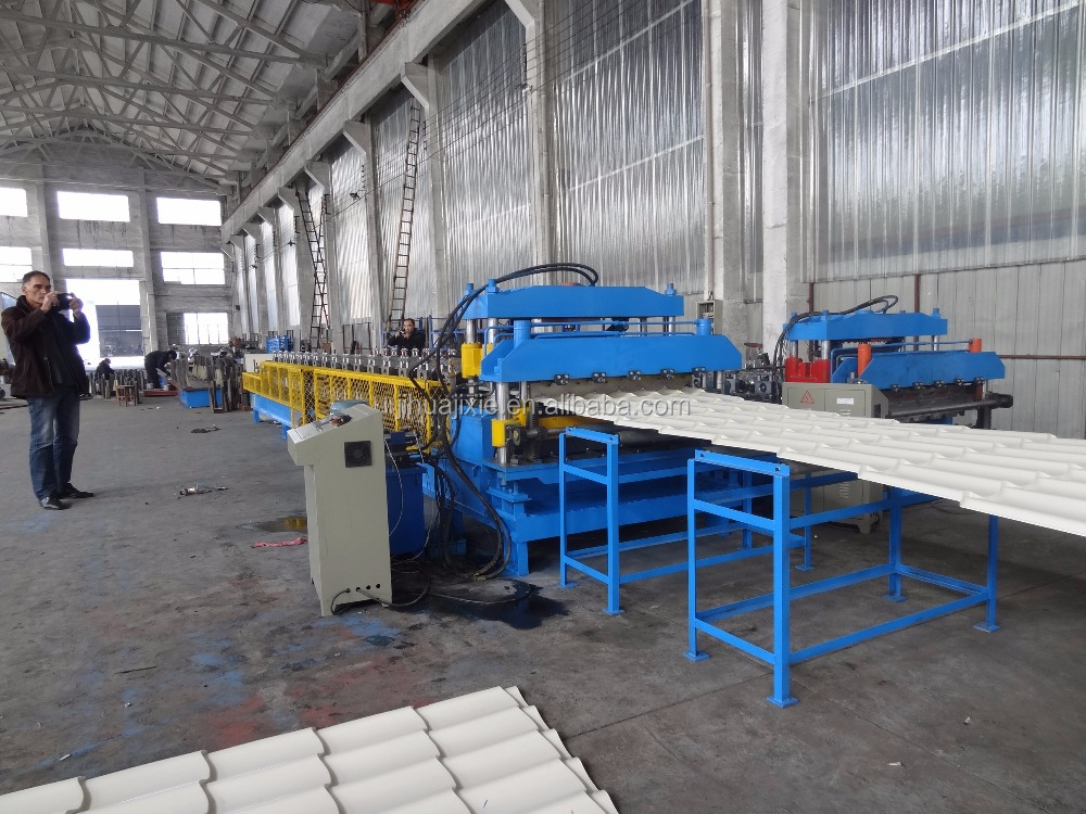 double layer corrugated steel roof tile and trapzoidal steel sheet roll forming machine prices