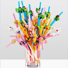 QIANCHI Art straws for party birthday wedding decoration plastic drinking straw