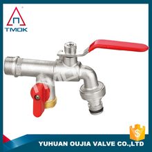 brass valve for water tap brass stem copper ball union PTFE seated lockable facuet brass bibcock low price control valve NPT